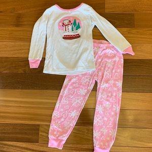 Gymboree 2 piece winter pajamas toddler girl 4T